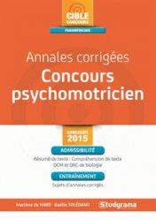Souvent acheté avec TOTAL Tests d'aptitude et psychotechniques - 2018, le Annales corrigées concours psychomotricien