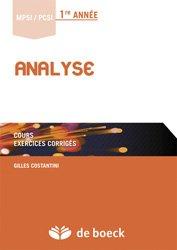 Souvent acheté avec Option informatique MPSI - MP/MP*, le Analyse MPSI / PCSI 1re année