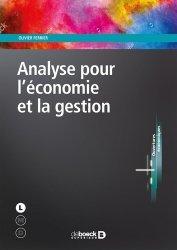 Dernières parutions sur Maths pour l'économie, la gestion et la finance, Analyse pour l'économie et la gestion