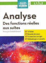 Dernières parutions sur Analyse, Analyse : des fonctions aux suites, L1-L2