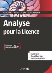 Souvent acheté avec Physique - 1350 cm3 d'exercices corrigés pour la Licence 1, le Analyse pour la licence