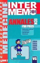 Dernières parutions dans Inter-mémo, Annales ECN par pôles Tome 2 - 2009