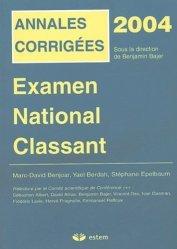 Souvent acheté avec Annales corrigées 2006 Épreuves classantes nationales, le Annales corrigées 2004