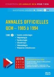 Souvent acheté avec Annales officielles QCM - 1985 à 1994 Tome 3, le Annales officielles QCM - 1985 à 1994  Tome 2