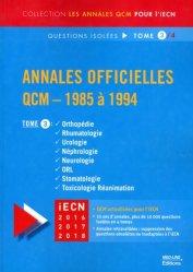 Souvent acheté avec Annales officielles QCM - 1985 à 1994  Tome 2, le Annales officielles QCM - 1985 à 1994 Tome 3