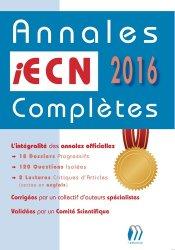 Souvent acheté avec Dossiers transversaux, le Annales iECN 2016 complètes