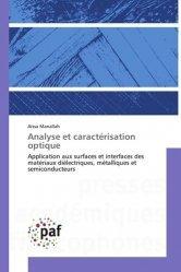 Dernières parutions sur Résistance des matériaux, Analyse et caractérisation optique