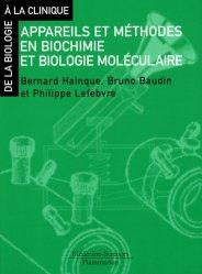 Souvent acheté avec Biochimie pathologique, le Appareils et méthodes en biochimie et biologie moléculaire