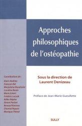 Dernières parutions sur Théories et concepts, Approches philosophiques de l'ostéopathie