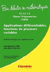 Dernières parutions sur Calcul différentiel, Applications differentiables, fonctions de plusieurs variables