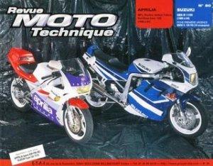 Dernières parutions dans Revue moto technique, Aprilia AF1 ''Réplica, Sintesi, Futura'' Red Rose (mot.123) (1989 à 1991) Suzuki GSX-R 1100 (1989 à 1991)