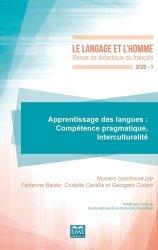Dernières parutions sur Psychologie cognitive, Apprentissage des langues : Compétence pragmatique, Interculturalité - 551