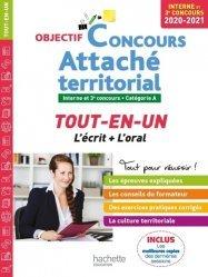 Dernières parutions dans Objectif Concours, Attaché territorial Interne et 3e concours Catégorie A. Tout-en-un, Edition 2020-2021