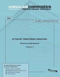 Dernières parutions sur Concours administratifs, Attaché territorial principal. Examen professionnel Catégorie A, Edition 2020-2021