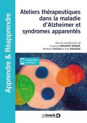 Dernières parutions sur Paramédical, Ateliers thérapeutiques dans la maladie d'Alzheimer et syndromes apparentés