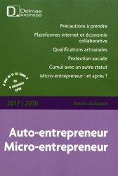 Dernières parutions dans Delmas express, Auto-entrepreneur, Micro-entrepreneur. Edition 2017-2018