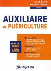 Souvent acheté avec Auxiliaire de puériculture - Le concours d'entrée, le Auxiliaire de puériculture