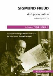 Dernières parutions sur Freud, Autoprésentation