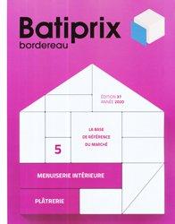 Dernières parutions sur Etudes de prix - Devis, Batiprix 2020 Volume 5