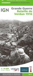 Dernières parutions sur Cartes thématiques, Bataille de Verdun 1916. 1/75 000