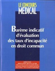 Bareme Indicatif D Evaluation Des Taux D Incapacite En Droit Commun