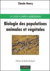 Dernières parutions dans Sciences sup cours, Biologie des populations animales et végétales
