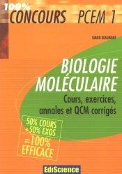 Souvent acheté avec 100 QCM corrigés - Génétique  - Biologie moléculaire, le Biologie moléculaire