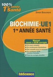 Souvent acheté avec Révisions et autoévaluation en biologie cellulaire et en histologie, le Biochimie - UE1