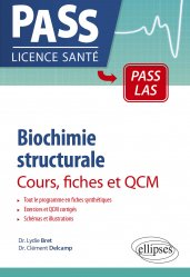 Dernières parutions sur PACES - PASS - LAS - MMOP, Biochimie structurale en cours, fiches et QCM