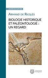 Dernières parutions sur Biologie, Biologie historique et paléontologie : un regard