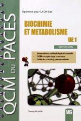 Dernières parutions dans QCM du PACES, Biochimie et Métabolisme UE1 chimie organique, chimie générale, biochimie,