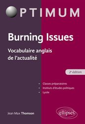 Dernières parutions dans Optimum, Burning issues vocabulaire anglais de l'actualite