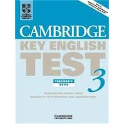 Dernières parutions dans Cambridge Key English Test 3, Cambridge Key English Test 3 - Teacher's Book Examination Papers from the University of Cambridge ESOL Examinations
