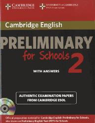 Dernières parutions sur PET, Cambridge English Preliminary for Schools 2 - Self-study Pack (Student's Book with Answers and Audio CDs (2)) Authentic Examination Papers from Cambridge ESOL
