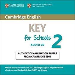 Dernières parutions sur Cambridge English Key and Key for Schools, Cambridge English Key for Schools 2 - Audio CD Authentic Examination Papers from Cambridge ESOL