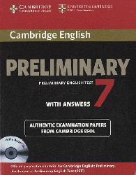Dernières parutions sur PET, Cambridge English Preliminary 7 - Student's Book Pack (Student's Book with Answers and Audio CDs (2))