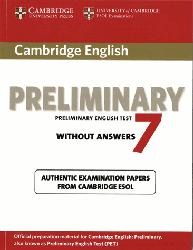 Dernières parutions sur PET, Cambridge English Preliminary 7 - Student's Book without Answers