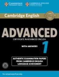 Dernières parutions sur CAE, Cambridge English Advanced 1 for Revised Exam from 2015 - Student's Book Pack (Student's Book with Answers and Audio CDs (2)) Authentic Examination Papers from Cambridge English Language Assessment