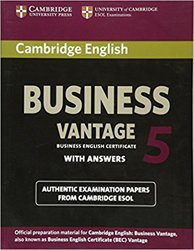 Dernières parutions sur BEC, Cambridge English Business 5 Vantage - Student's Book with Answers