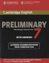 Dernières parutions sur PET, Cambridge English Preliminary 7 - Student's Book with Answers