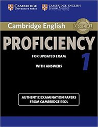 Dernières parutions sur CPE, Cambridge English Proficiency 1 for Updated Exam - Student's Book with Answers Authentic Examination Papers from Cambridge ESOL