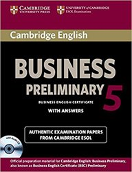 Dernières parutions sur BEC, Cambridge English Business 5 Preliminary - Self-study Pack (Student's Book with Answers and Audio CD)