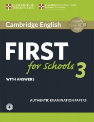 Dernières parutions sur FCE, Cambridge English First for Schools 3 With Answers With AudioENGLISH FIRST FOR SCHOOLS 3