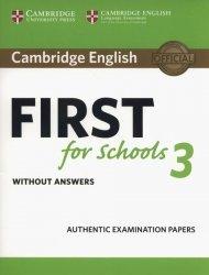 Dernières parutions sur FCE, Cambridge English First for Schools 3