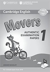 Dernières parutions sur Cambridge English Young Learners, Cambridge English Movers 1 for Revised Exam from 2018 - Answer Booklet Authentic Examination Papers