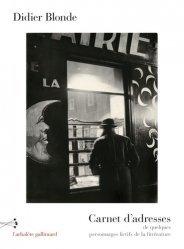 Dernières parutions dans L'arbalète, Carnet d'adresses de quelques personnages fictifs de la littérature