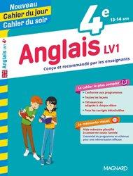 Dernières parutions sur Langues et littératures étrangères, Cahier du jour/Cahier du soir Anglais LV1 4e + mémento