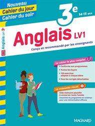 Dernières parutions sur Langues et littératures étrangères, Cahier du jour/Cahier du soir Anglais LV1 3e + mémento