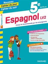 Dernières parutions sur Auto apprentissage (parascolaire), Cahier du jour/Cahier du soir Espagnol LV2 5e