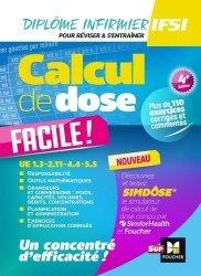 Dernières parutions sur Calculs de dose - Examens de laboratoire, Calcul de dose facile - Infirmier en IFSI - DEI. 4e édition